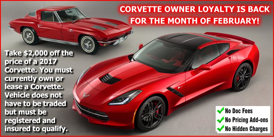 Corvette Owner Loyaltty Incentive