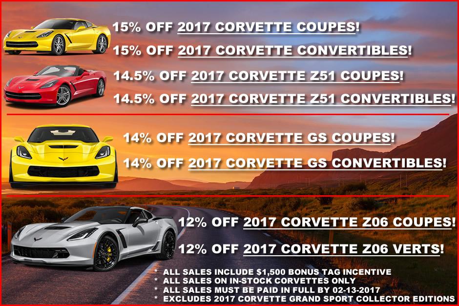 MacMulkin Chevrolet Corvette Discounts February
