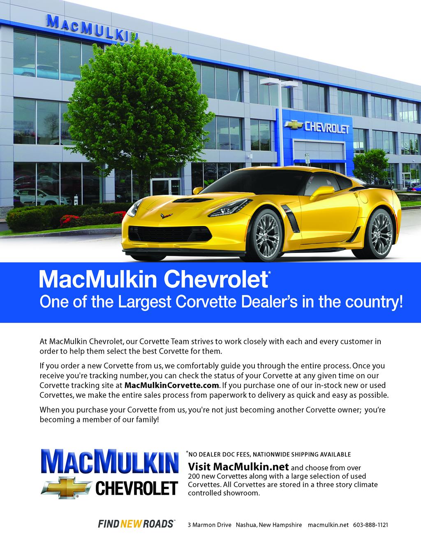 macmulkin chevrolet corvette dealer nashua nh. Black Bedroom Furniture Sets. Home Design Ideas