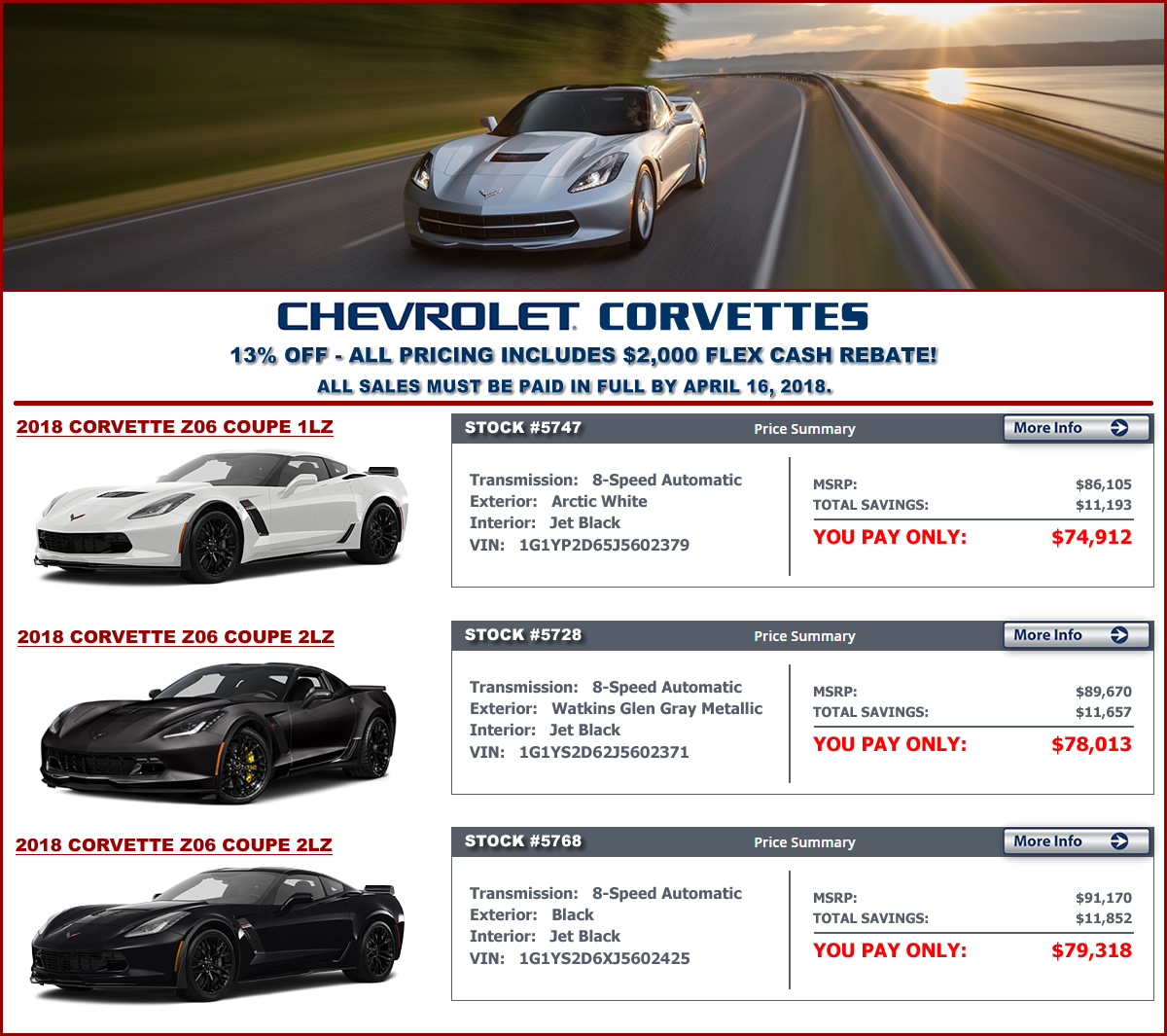 2018 Corvette Z06 Sale at MacMulkin Chevrolet